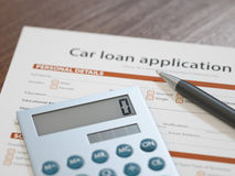 Car Loan Application Stock Photography