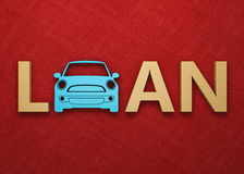 Car Loan Concept - 3D Rendering Images. Isolated on White Stock Photo
