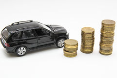 Car loan. Credit, loan, buying a car, money royalty free stock image