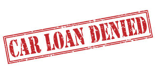 Car Loan denied red stamp. Isolated on white background royalty free illustration