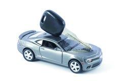 Car, Car Loan, Car Insurance, Car Expenses, Car Hire. An image depicting car loan or car insurance cover or Car related expenses. Car with coins. Car with Money Royalty Free Stock Image