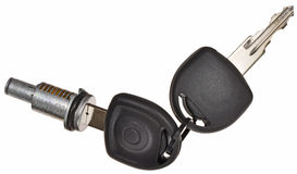 Car lock cylinder Royalty Free Stock Images