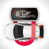 Car Lock Security. The car is well protected closed padlock Royalty Free Stock Photo