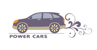 Car logo. Jeep car side view,  illustration Stock Images