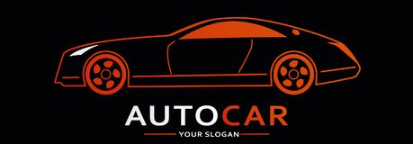 Car Logo Abstract Lines Vector. Vector illustration Stock Images