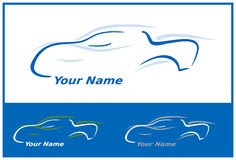 Car Logo in Blue Vector Illustration Royalty Free Stock Photography