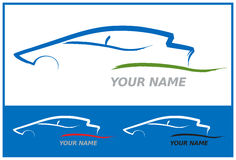 Car Logo in Blue and Green Vector Illustration Stock Image