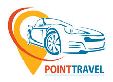Car Logo Design. Creative vector icon. Point Travel. Vector illustration. Royalty Free Stock Images