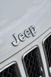 Car Logo Jeep. NIZHNY NOVGOROD, RUSSIA - JULY 21, 2013: Auto show. Car Logo Jeep Stock Photography
