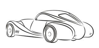 Car logo. Sketch of a logo of the sports car Stock Photo