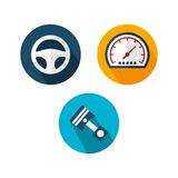 Car Logo TemplateWith Flat Color Royalty Free Stock Photo