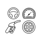 Car Logo TemplateWith Flat Color Royalty Free Stock Images