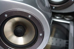 Car loudspeaker. Royalty Free Stock Photo