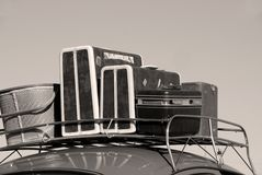 Car and luggage. Car with luggage rack for travel Stock Photography