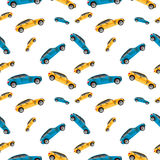 Car machine pattern on a white background. Car pattern on a white background, vector illustration royalty free illustration