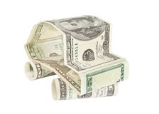 Car made of dollar banknotes Royalty Free Stock Photos