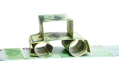 The car made of Dollars Stock Images