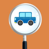 Car magnify Stock Images