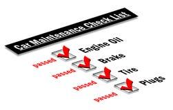 Car maintenance checklist. Illustration of a car maintenance checklist Royalty Free Stock Photos