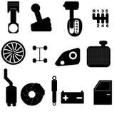 Car maintenance icon set Royalty Free Stock Images