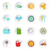 Car maintenance icons set, cartoon style Stock Photos
