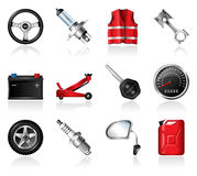 Car maintenance icons Royalty Free Stock Photo
