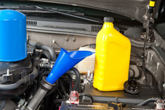 Car maintenance oil change Royalty Free Stock Image