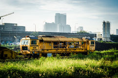 The car maintenance of railway. Royalty Free Stock Photography