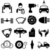 Car maintenance and repair. Icon set Royalty Free Stock Images