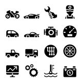 Car maintenance and repair icon set Royalty Free Stock Images