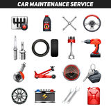 Car Maintenance Service Flat Icons set Royalty Free Stock Photos