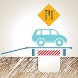Car maintenance. Vector illustration. Car maintenance. Auto Mechanic. Vector illustration Stock Photography