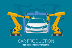 Car manufacturer or car production concept. Robotics Industry Insights. Stock Photos