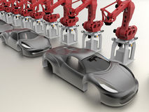 Car mass production concept Royalty Free Stock Photos