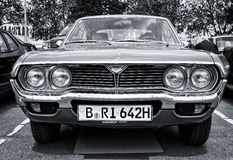 Car Mazda 929 (RX-4) Hardtop (black and white) Stock Images