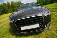 Car on meadow Stock Image