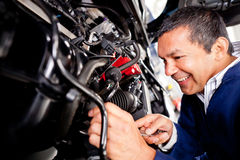Car mechanic Stock Photography
