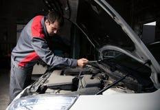 Car mechanic. Auto repair service. Car mechanic and automobile. Auto repair service stock photography