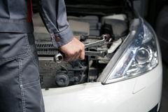 Car mechanic. Auto repair service. Royalty Free Stock Photography