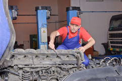 Car mechanic engine repair Stock Image