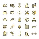 Car mechanic icon. Car and mechanic vector icon sets Royalty Free Stock Photography