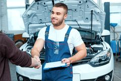 Car mechanic at the service station Royalty Free Stock Photo