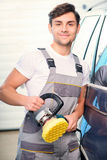 Car mechanic at the service station Royalty Free Stock Photography