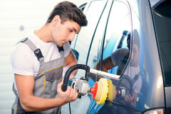 Car mechanic at the service station Stock Images