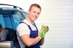 Car mechanic at the service station Stock Photos