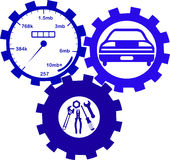 Car mechanic and service tools. Icon set Royalty Free Stock Images