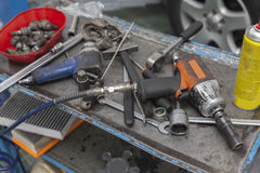 Car mechanic tool Royalty Free Stock Photos