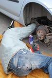 Car mechanic royalty free stock photos