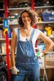 Car mechanic woman in repair shop Royalty Free Stock Photo