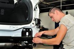 Car mechanic at work. Stock Photos
